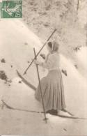 Cpa 88 Les Vosges Femme A Ski Rarissime - Other Municipalities