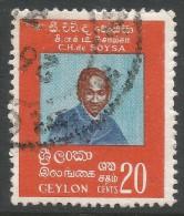 Ceylon. 1971 135th Birth Anniv Of CH De Soysa. 20c Used - Sri Lanka (Ceylon) (1948-...)