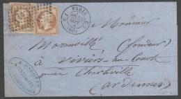Napoléon III  N° 13B Avec Oblitèration Losange CS1 Sur Lettre  TB - 1853-1860 Napoleone III