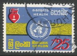 Ceylon. 1971 World Health Day. 20c Used - Sri Lanka (Ceylon) (1948-...)