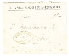 """Iran Brief 1904 Ab Kermanshah Nach Tauris Mit AK Und Transit Stempel """"Kurdistan"""" (Mi# 2x215) - Iran"""