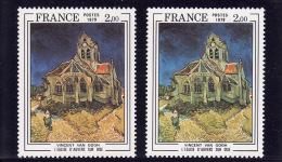 N°2054 Variété Orange Au Lieu De Jaune + Timbre Normal, Cote Maury 450 Euros, Voir Photo - Varieteiten: 1970-79 Postfris