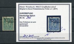 D. Reich Michel-Nr. 245 Gestempelt - Geprüft - Deutschland