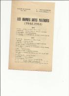"""Fichier Du Militant M.R.P."""" Les Grandes Dates Politiques 1944-1951"""" En MAI 1951- Document 8 Pages,bon état - Journaux - Quotidiens"""