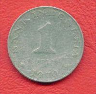 ZC634 /  - 1  RUPIAN - 1970 -  INDONESIA  Indonesie  Indonesie -  Coins Munzen Monnaies Monete
