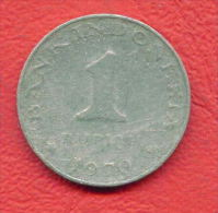 ZC634 /  - 1  RUPIAN - 1970 -  INDONESIA  Indonesie  Indonesie -  Coins Munzen Monnaies Monete - Indonesia