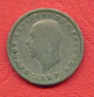 ZC1265 /  - 1 DRACHMA - 1957 - Greece Grece Griechenland Grecia  -  Coins Munzen Monnaies Monete - Grèce