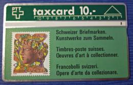 Telefonkarte Taxcard Europa Schweizer Briefmarken PTT - Timbres & Monnaies