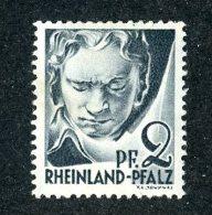 7307  Rheinland 1947  ~ Michel #1  ( Cat.€.10 )  M*- Offers Welcome! - Zona Francesa