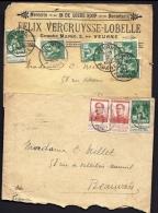 LOT 6 LETTRES  DE BELGIQUE DONT 4 DEVANTS AVEC TIMBRES PERFORÉS F S- 1911-1915 - 5 SCANS - Other