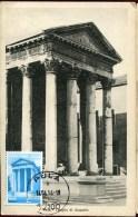 Croatia, Maxicard Maximum, Roman Temple Of Augustus In Pula /croatia,  Roman Architecture, Vintage Card - Arqueología