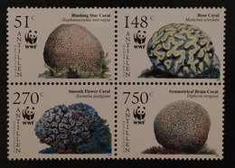 (WWF-373) W.W.F Netherlands Antilles Caribbean Corals MNH Stamps 2005 - W.W.F.