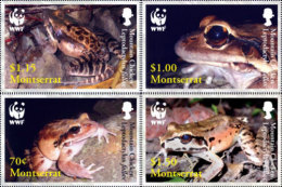 (WWF-386) W.W.F Montserrat Mountain Chicken Frog MNH Stamps  2006 - W.W.F.