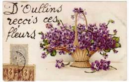 D'Oullins Reçois Ces Fleurs (ajoutis Paillettes) - Oullins