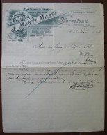 FATTURA GRAN FABRICA DE SOMBREROS BARCELONA SPAGNA ANNO 1904 - Spagna