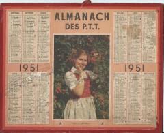 Almanach Des PTT/Avec Carte Des Chemins De Fer/ Seine / 1951       CAL163 - Big : 1941-60
