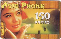 "***Télécarte Prépayée ASIE PHONE   ""VISAGE"" 7,5€  Vide  TTB  A Saisir ***  N° Série:00735927   New** - Prepaid-Telefonkarten: Andere"