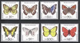 Bund BRD 1991 Mi# 1512-19 ** MNH Schmetterlinge Butterflies - Ongebruikt