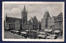 Trier. Gandolphskirche, Hauptmarkt. Trèves, Jour De Marché. Feldpost 1942. Artillerie Abteilung 34 - Trier