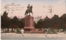 RIGA 10659/7  DENKMAL PETER DES GROSSEN 1913 - Lettonie
