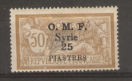 Syrie _50c Merson Brun Gris -  O.M.F- Syrie 25 Piastres