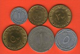 ** Complete Set  / Juego Completo  AH1383 1964  ** - 6 Coins 1 Centim - 1 Dinar - ARGELIA / ALGERIA / ALGERIEN - Argelia