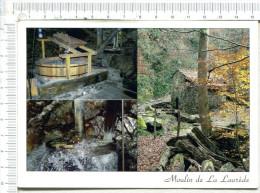 BURRET  -  MOULIN  De  LA LAUREDE   -   3 Vues   :  Trémie Et Meule Supérieure  - Rouet :  Roue D Entraînement - Mulini Ad Acqua