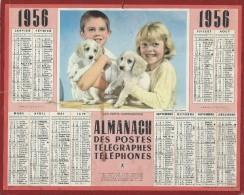 Almanach Des PTT/manque Feuillets Verso/  Nos Petits Compagnons/ 1956     CAL169 - Big : 1941-60