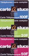 "***Télécarte Prépayée LOT ASTUCE""TISCALI DAMIER ""  20 50 100€ Vide TTB  A Saisir ***  New** - Prepaid-Telefonkarten: Andere"