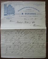 FATTURA  ERSTE GROSSTE MARIAHILFER DAMEN MODE HUT FABRIK UND MODE- SALON M. BRAUNER EXPORT WIEN AUSTRIA ANNO 1906 - Oostenrijk