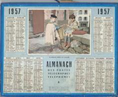 Almanach Des PTT/manque Feuillets Verso /  Flânerie Aprés La Classe/ 1957     CAL171 - Big : 1941-60