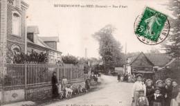 Cpa  80  Bethencourt-sur-mer , La Rue D'ault , Belle Animations - Autres Communes