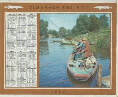 Almanach Des PTT/Avec Cahier Central / Détente / Plein Air / Seine/ 1959     CAL173 - Calendars