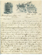 FATTURA GOLDBERG % CO. IMPORTERS NEW YORK ANNO 1894 - Fatture & Documenti Commerciali