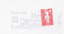 FRANCE. FRAGMENT POSTMARK. CHARTRES. FLAMME - Marcofilia (sobres)