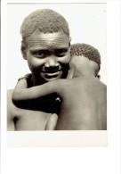 carte photo - AFRIQUE - TCHAD - Jeune maman Kaba-D�m� - r�gion KYABE - SCARIFICATIONS femme mi-nue b�b� nu - N�13