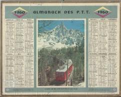 Almanach Des PTT/manque  Feuillets Au Verso  / Chemin De Fer Montenvers Et Les Drus / 1960     CAL175 - Big : 1941-60