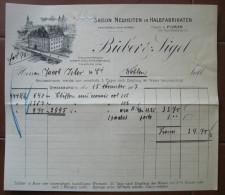 FATTURA SAISON NEUHEITEN IN HALBFABRIKATEN BIEBER & SIGEL STRASSBURG ANNO 1907 - Francia