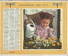 Almanach Des PTT/avec Cahier Central /22 Pages /A Ma Fenêtre / Jardine  / Eure / Et Loir  / 1961     CAL178 - Big : 1941-60