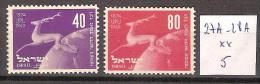 Israel 27A-28A **  Côte 5 € - Israel