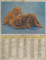 Almanach Des PTT/Avec Dossier Central/Les Petits Chats /Jeunes Chiens / Seine/ 1968     CAL183 - Big : 1941-60