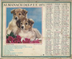 Almanach Des PTT/Avec Dossier Centrall/Heureux Couple / Acrobatie /Hauts De  Seine/ 1971     CAL185 - Big : 1941-60