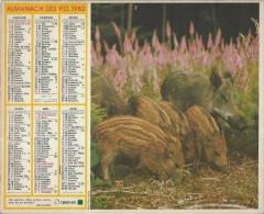 Almanach Des PTT/Avec Dossier Central/Laie Marcassins Et Chevreuil /Hts De  Seine/ Seine St Denis/Val De M /1982  CAL186 - Big : 1941-60