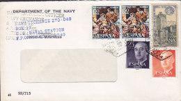 Spain DEPARTMENT OF THE NAVY, U.S. NAVAL STATION, Jerez De La Frontera 1969 Cover Letra - 1931-Heute: 2. Rep. - ... Juan Carlos I