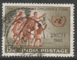 India. 1960 UNICEF Day. 15np Used. SG 432 - India