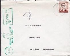 Belgium RONSE - RENAD 1972 Cover Lettre To Denmark Danish Green TAXE Postage Due PORTO AT BETALE Cancelation - Portomarken