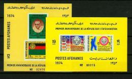 Afghanistan 1974,2 Blocks,banners,vlaggen,drapeaux,flaggen,eagle,adelaar,MNH/Postfris(A1 325) - Vlag