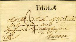 IMOLA - Stampatello Diritto Su Piego Per Ravenna Del 1845 - Italia