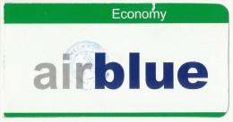 PAKISTAN DOMESTIC AIR BLUE PASSENGER BOARDING PASS - Transportation Tickets