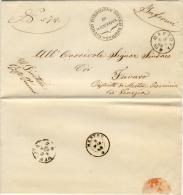 Franchigia Da Mantova Per Favaro Del 1868 - Direzione Dello Spedale Civico Di Mantova. - 1861-78 Vittorio Emanuele II